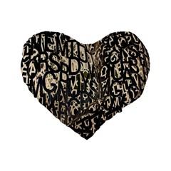 Wallpaper Texture Pattern Design Ornate Abstract Standard 16  Premium Flano Heart Shape Cushions by Simbadda