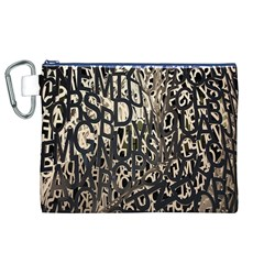 Wallpaper Texture Pattern Design Ornate Abstract Canvas Cosmetic Bag (xl) by Simbadda