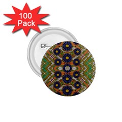 Fleur Flower Porcelaine In Calm 1 75  Buttons (100 Pack)  by pepitasart