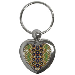 Fleur Flower Porcelaine In Calm Key Chains (heart)  by pepitasart