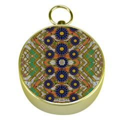 Fleur Flower Porcelaine In Calm Gold Compasses by pepitasart