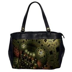 Geometric Fractal Cuboid Menger Sponge Geometry Office Handbags by Simbadda