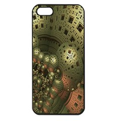 Geometric Fractal Cuboid Menger Sponge Geometry Apple Iphone 5 Seamless Case (black) by Simbadda