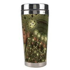 Geometric Fractal Cuboid Menger Sponge Geometry Stainless Steel Travel Tumblers by Simbadda