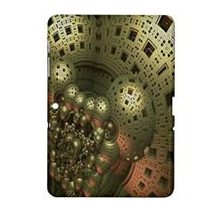 Geometric Fractal Cuboid Menger Sponge Geometry Samsung Galaxy Tab 2 (10 1 ) P5100 Hardshell Case  by Simbadda