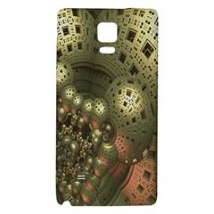 Geometric Fractal Cuboid Menger Sponge Geometry Galaxy Note 4 Back Case by Simbadda