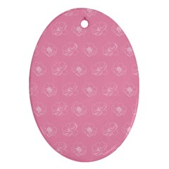 Pink Pattern Oval Ornament (two Sides) by Valentinaart