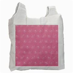 Pink Pattern Recycle Bag (one Side) by Valentinaart