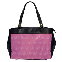 Pink Pattern Office Handbags by Valentinaart