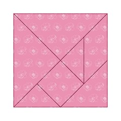 Pink Pattern Acrylic Tangram Puzzle (6  X 6 ) by Valentinaart
