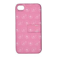 Pink Pattern Apple Iphone 4/4s Hardshell Case With Stand by Valentinaart