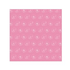 Pink Pattern Small Satin Scarf (square) by Valentinaart
