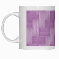 Purple Pattern White Mugs by Valentinaart
