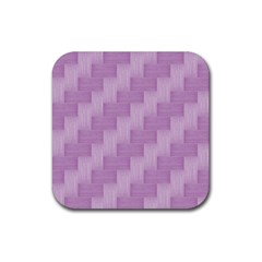 Purple Pattern Rubber Coaster (square)  by Valentinaart
