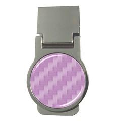 Purple Pattern Money Clips (round)  by Valentinaart