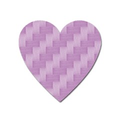 Purple Pattern Heart Magnet by Valentinaart