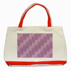 Purple Pattern Classic Tote Bag (red) by Valentinaart