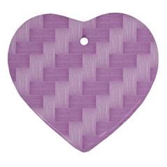 Purple Pattern Heart Ornament (two Sides) by Valentinaart