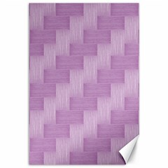 Purple Pattern Canvas 12  X 18   by Valentinaart