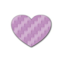 Purple Pattern Rubber Coaster (heart)  by Valentinaart