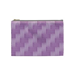 Purple Pattern Cosmetic Bag (medium)  by Valentinaart