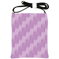Purple Pattern Shoulder Sling Bags by Valentinaart