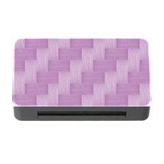 Purple Pattern Memory Card Reader With Cf by Valentinaart