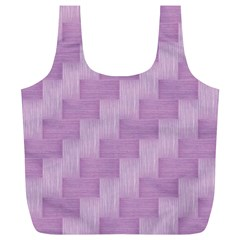 Purple Pattern Full Print Recycle Bags (l)  by Valentinaart