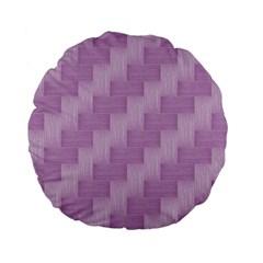 Purple Pattern Standard 15  Premium Flano Round Cushions by Valentinaart