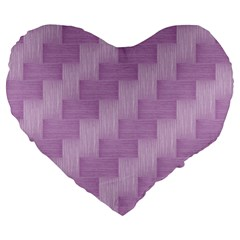 Purple Pattern Large 19  Premium Flano Heart Shape Cushions by Valentinaart