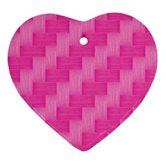 Pink Pattern Ornament (heart) by Valentinaart
