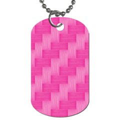 Pink Pattern Dog Tag (one Side) by Valentinaart