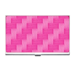Pink Pattern Business Card Holders by Valentinaart