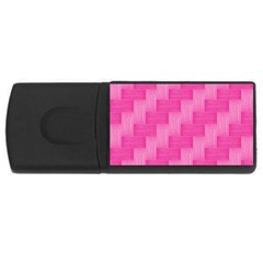 Pink Pattern Usb Flash Drive Rectangular (4 Gb) by Valentinaart