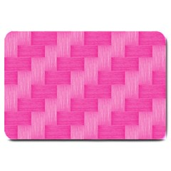 Pink Pattern Large Doormat  by Valentinaart
