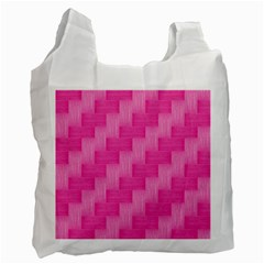 Pink Pattern Recycle Bag (two Side)  by Valentinaart