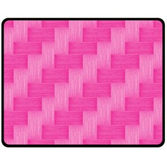 Pink Pattern Fleece Blanket (medium)  by Valentinaart