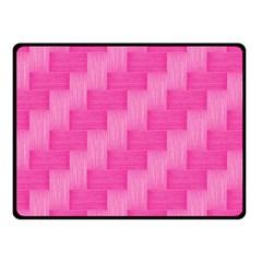 Pink Pattern Double Sided Fleece Blanket (small)  by Valentinaart