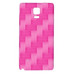 Pink Pattern Galaxy Note 4 Back Case by Valentinaart