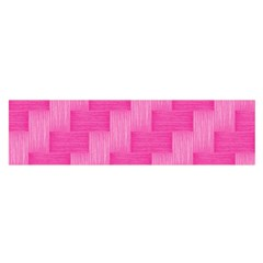 Pink Pattern Satin Scarf (oblong) by Valentinaart