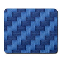 Blue Pattern Large Mousepads by Valentinaart