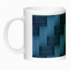 Blue Pattern Night Luminous Mugs by Valentinaart