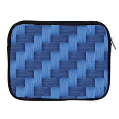 Blue Pattern Apple Ipad 2/3/4 Zipper Cases by Valentinaart