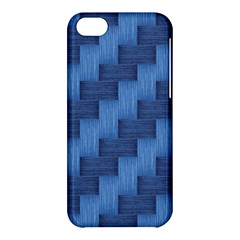 Blue Pattern Apple Iphone 5c Hardshell Case by Valentinaart