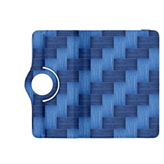 Blue Pattern Kindle Fire Hdx 8 9  Flip 360 Case by Valentinaart