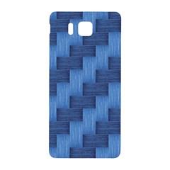 Blue Pattern Samsung Galaxy Alpha Hardshell Back Case by Valentinaart