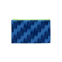 Blue Pattern Cosmetic Bag (xs) by Valentinaart