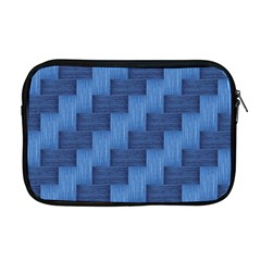 Blue Pattern Apple Macbook Pro 17  Zipper Case by Valentinaart