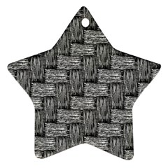 Gray Pattern Ornament (star) by Valentinaart