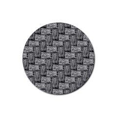 Gray Pattern Rubber Coaster (round)  by Valentinaart